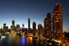 Brisbane by night Stock Photography