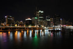 Brisbane at night stock photos