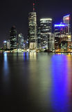 Brisbane at night. The Brisbane river and CBD at night Stock Image