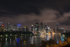 Brisbane at night from the Kangroo Point Cliffs Royalty Free Stock Photography