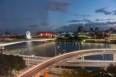Brisbane night lights. Stock Image