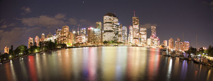 BRISBANE NIGHTS Royalty Free Stock Photography