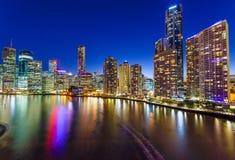 Brisbane på natten Royaltyfri Foto