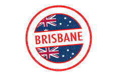 BRISBANE. Passport-style BRISBANE rubber stamp over a white background Royalty Free Stock Photo