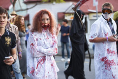 Brisbane, Queensland, Australia - October 5th 2014: Annual brain foundation zombie walk October 5th, 2014 in West end, Brisbane, A Stock Photography