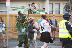 Brisbane, Queensland, Australia - October 5th 2014: Annual brain foundation zombie walk October 5th, 2014 in West end, Brisbane, A Royalty Free Stock Photography