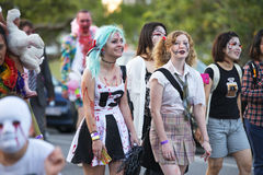 Brisbane, Queensland, Australia - October 5th 2014: Annual brain foundation zombie walk October 5th, 2014 in West end, Brisbane, A Royalty Free Stock Image