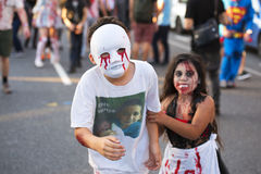 Brisbane, Queensland, Australia - October 5th 2014: Annual brain foundation zombie walk October 5th, 2014 in West end, Brisbane, A Stock Photo