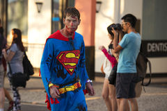 Brisbane, Queensland, Australia - October 5th 2014: Annual brain foundation zombie walk October 5th, 2014 in West end, Brisbane, A Royalty Free Stock Photo