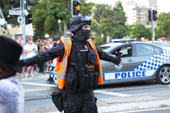 Brisbane, Queensland, Australie - 5 octobre 2014 : Promenade annuelle de zombi de base de cerveau le 5 octobre 2014 dans le West  images stock
