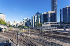 Brisbane railway station. A close-up of Brisbane's railway station Stock Photography