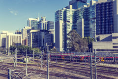 Brisbane railway station. A close-up of Brisbane's railway station Stock Photos