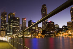 Brisbane River City. The Brisbane River is the longest river in south east Queensland, Australia, and flows through the city of Brisbane, before emptying into Royalty Free Stock Photos