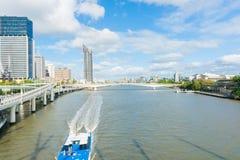 Brisbane River through city Royalty Free Stock Image