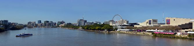 Brisbane River Ferries Morning Panorama, Queenland Australia Royalty Free Stock Photography