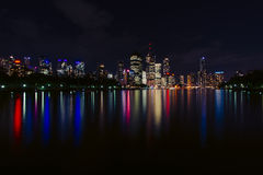 Brisbane river at night Royalty Free Stock Images
