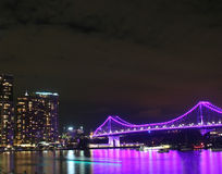 Brisbane River night scene Stock Image