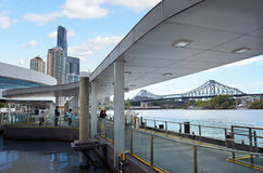Brisbane Riverside ferry wharf Royalty Free Stock Image