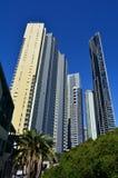 Brisbane Riverside Quarter - Little Singapore. BRISBANE, AUS - SEP 25 2014:Sky scrapers at Brisbane Riverside Quarter, Little Singapore . It�s home to some of royalty free stock photography