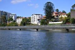 Brisbane Riverwalk dans Brisban Queensland Australie images stock