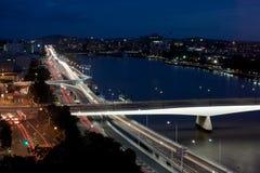 Brisbane rusar vår trafik Fotografering för Bildbyråer