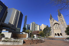 Brisbane's modern urban architecture Royalty Free Stock Photography