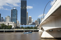 Brisbane's South bank. Brisbane's South Bank district across the river stock photography