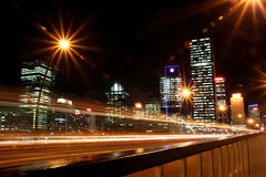 Brisbane Skyline. Brisbane Skyline at night time Royalty Free Stock Images