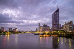 Brisbane skyline, capital of Queensland, Australia. The Brisbane central business district CBD, officially gazetted as the suburb of Brisbane City and stock images