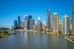 Brisbane skyline, capital of Queensland, Australia. Brisbane is the capital of and the most populated city in the Australian state of Queensland, and the third stock images