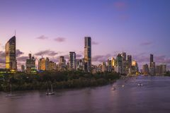 Brisbane skyline, capital of Queensland, Australia. Brisbane is the capital of and most populous city in the Australian state of Queensland, and the third most royalty free stock photography