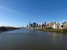 Brisbane Skyline from the Goodwill Bridge Stock Image
