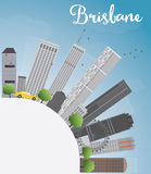 Brisbane skyline with grey building, blue sky and copy space. Vector illustration Royalty Free Stock Photo