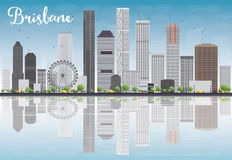 Brisbane skyline with grey building and blue sky. Vector illustration Stock Photo