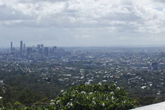 Brisbane skyline from Mt. coot-Tha Royalty Free Stock Image