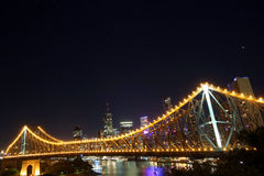 Brisbane skyline at night Stock Photography