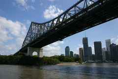 Brisbane skyline under Story Bridge Royalty Free Stock Photo