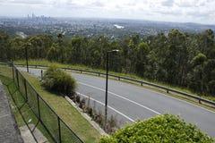 Brisbane-Skyline von Mt.-Blässhuhn-Tha Stockbild
