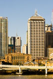Brisbane from the South Bank. Old and new from the south bank of the river, Brisbane,Queensland,Australia Royalty Free Stock Image