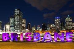 Brisbane stad Arkivfoto