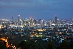 Brisbane stad, Australien, flyg- sikt royaltyfri fotografi