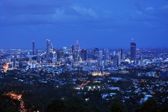 Brisbane stad, Australien, flyg- sikt royaltyfri foto