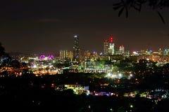 Brisbane stadsnightsscape Arkivbilder