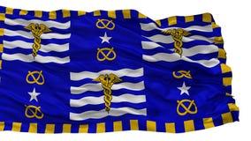 Brisbane-Stadt-Flagge, Australien, lokalisiert auf weißem Hintergrund lizenzfreie abbildung