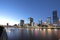 Brisbane-Stadt, Nacht Lizenzfreies Stockfoto