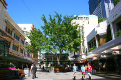 Brisbane-Stadt-Straßen-Szene Stockfotos