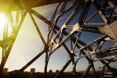 Brisbane steel bridge. Of the iceberg in the sun stock photography