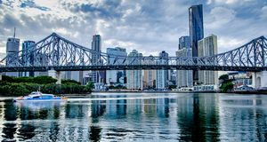 Brisbane story bridge royalty free stock photos