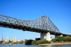 Brisbane Story Bridge. Story Bridge And The Brisbane City In Australia stock photo