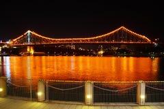 Brisbane Story Bridge At Night Stock Photo